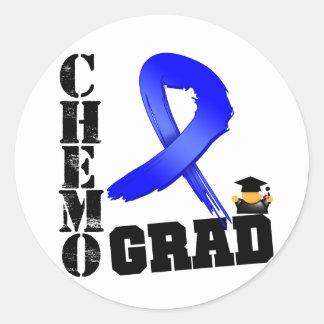 Colon Cancer Chemo Grad Stickers