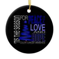 Colon Cancer Christmas 1 Ornaments