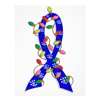 Colon Cancer Christmas Lights Ribbon Flyer