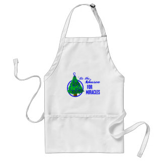 Colon Cancer Christmas Miracles Adult Apron