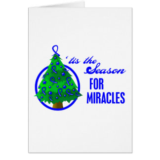 Colon Cancer Christmas Miracles Greeting Card