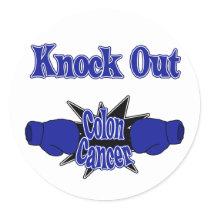 Colon Cancer Classic Round Sticker