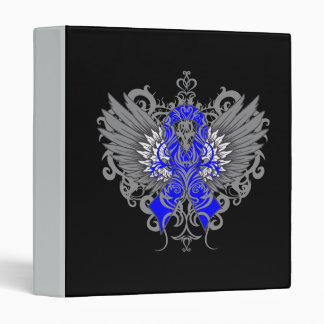 Colon Cancer Cool Awareness Wings 3 Ring Binders