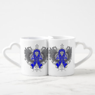 Colon Cancer Cool Awareness Wings Lovers Mug Sets