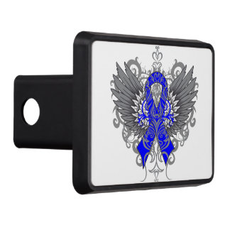 Colon Cancer Cool Awareness Wings Trailer Hitch Cover