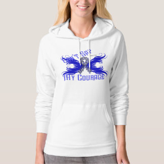 Colon Cancer Courage Ladies Hoodie