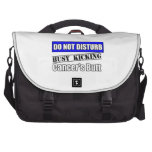 Colon Cancer Do Not Disturb Kicking Butt Laptop Bag