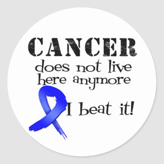 Colon Cancer Does Not Live Here Anymore Classic Round Sticker