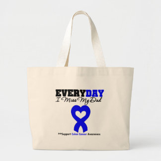 Colon Cancer Every Day I Miss My Dad Large Tote Bag
