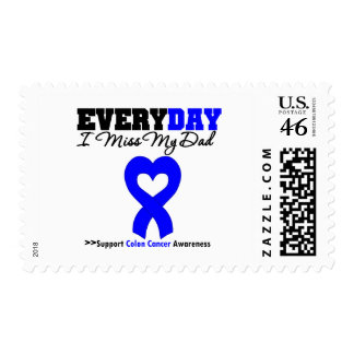 Colon Cancer Every Day I Miss My Dad Stamp