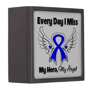 Colon Cancer Every Day I Miss My Hero Premium Jewelry Box