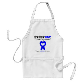 Colon Cancer Every Day I Miss My Husband Adult Apron