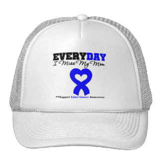COLON CANCER Every Day I Miss My Mom Mesh Hat