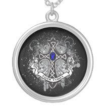 Colon Cancer - Faith Family Prayer Cross Silver Plated Necklace