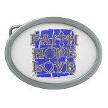 Colon Cancer Faith Hope Love Belt Buckles