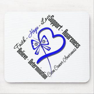Colon Cancer Faith Hope Love Butterfly Mouse Pad