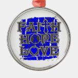 Colon Cancer Faith Hope Love Christmas Tree Ornaments