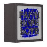 Colon Cancer Faith Hope Love Premium Jewelry Box