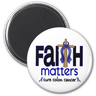 Colon Cancer Faith Matters Cross 1 2 Inch Round Magnet