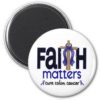 Colon Cancer Faith Matters Cross 1 Magnet