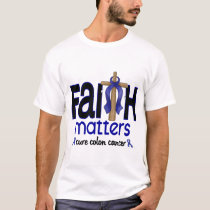 Colon Cancer Faith Matters Cross 1 T-Shirt