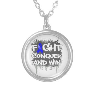 Colon Cancer Fight Conquer and Win Jewelry