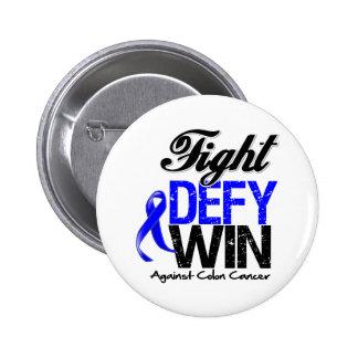 Colon Cancer Fight Defy Win 2 Inch Round Button