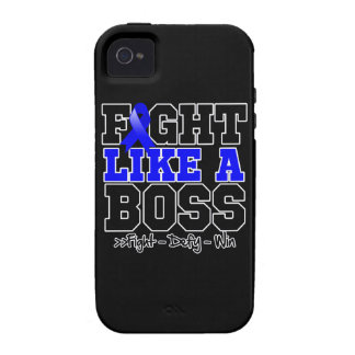 Colon Cancer Fight Like a Boss iPhone 4 Covers