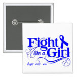 Colon Cancer Fight Like A Girl Elegant Buttons