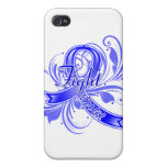 Colon Cancer Fight Like a Girl Flourish iPhone 4/4S Cover