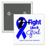Colon Cancer Fight Like A Girl Knock Out Pins