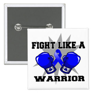 Colon Cancer Fight Like a Warrior 2 Inch Square Button