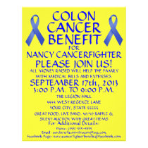 Colon Cancer Fighter Benefit Flyer