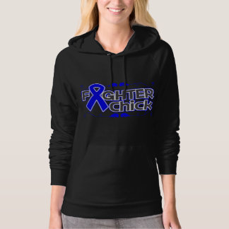Colon Cancer Fighter Chick Hooded Sweatshirts