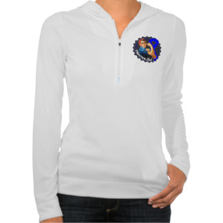 Colon Cancer Fighter Gal Hooded Sweatshirts