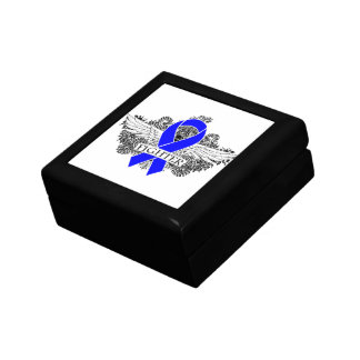Colon Cancer Fighter Wings Trinket Box