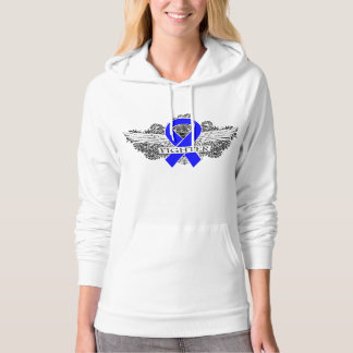 Colon Cancer Fighter Wings Sweatshirt