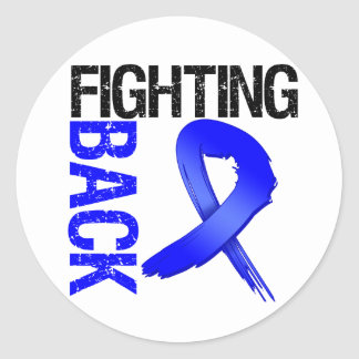 Colon Cancer Fighting Back Classic Round Sticker