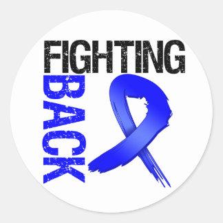 Colon Cancer Fighting Back Classic Round Sticker