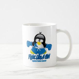 Colon Cancer Fighting Penguin Coffee Mug