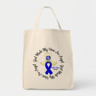Colon Cancer God Made My Hero An Angel Canvas Bag