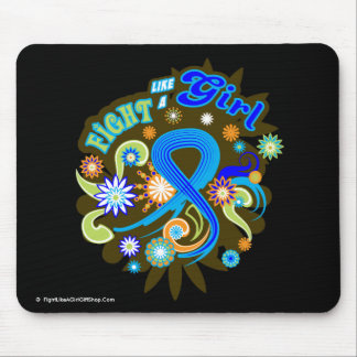 Colon Cancer Groovy Fight Like A Girl Mouse Pad