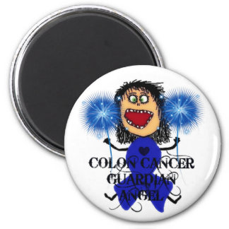 Colon Cancer Guardian Angel 2 Inch Round Magnet