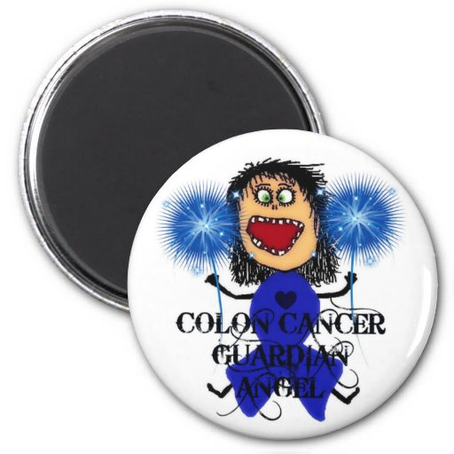 Colon Cancer Guardian Angel Refrigerator Magnet