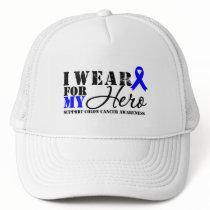 Colon Cancer Hero Blue Ribbon Trucker Hat