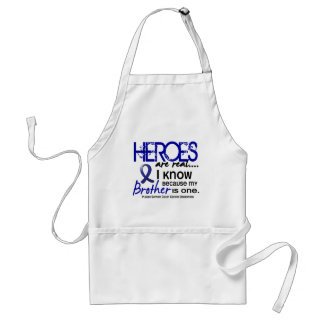 Colon Cancer Heroes Are Real 1 (Brother) Adult Apron