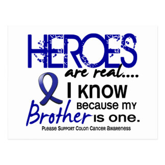 Colon Cancer Heroes Are Real 1 (Brother) Postcard