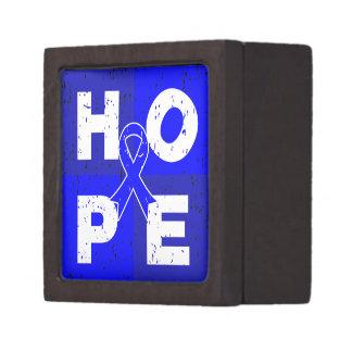 Colon Cancer HOPE Cube Premium Trinket Boxes