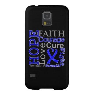 Colon Cancer Hope Faith Motto Galaxy S5 Covers