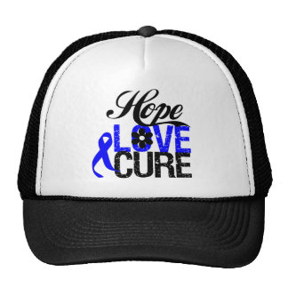 COLON CANCER Hope Love Cure Gifts Hat